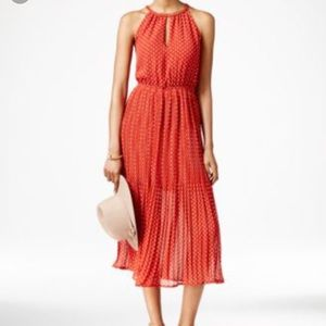 Maison Jules tomato red polka dot dress